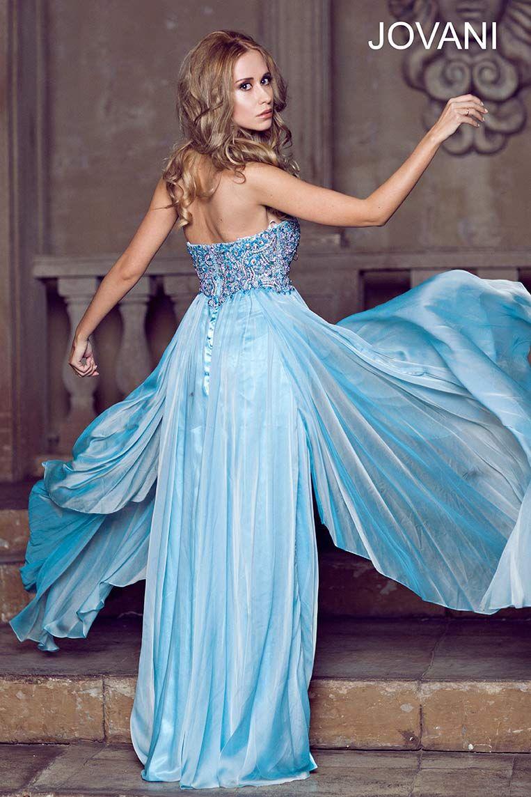 Jovani 1560 | Jovani Dress 1560 ~ Colors: blue, coral, nude, red ...