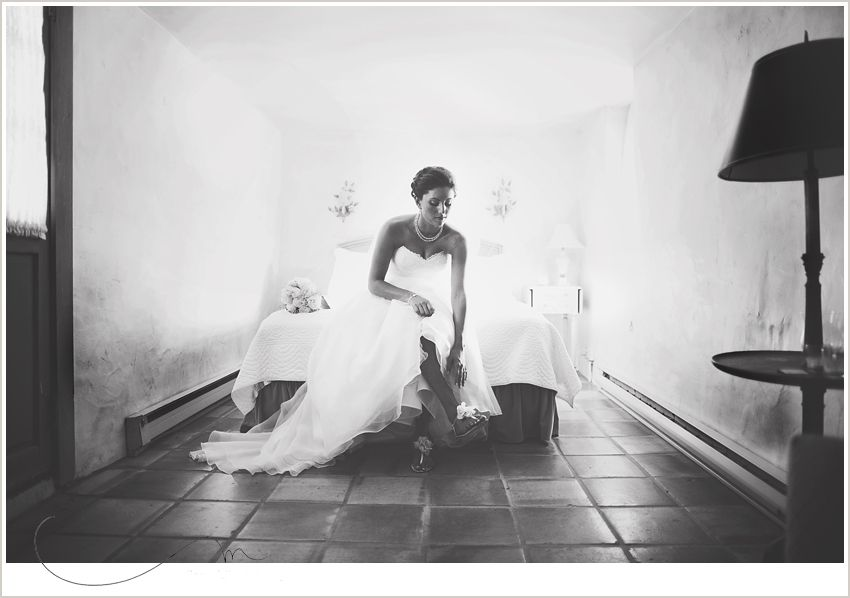One of our lovely brides Carissa getting ready in the Stone Cottage