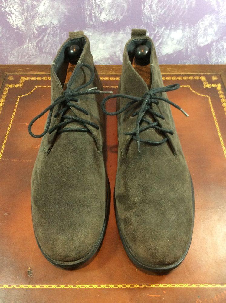 man's size 12 D Gr ay suede   Calvin Klein chucker boots #CalvinKlein #AnkleBoots