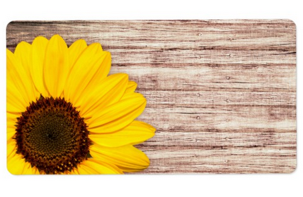 Rustic Sunflower Labels Elegant Blank Featuring A Yellow On Wood Background Add Your Own Text