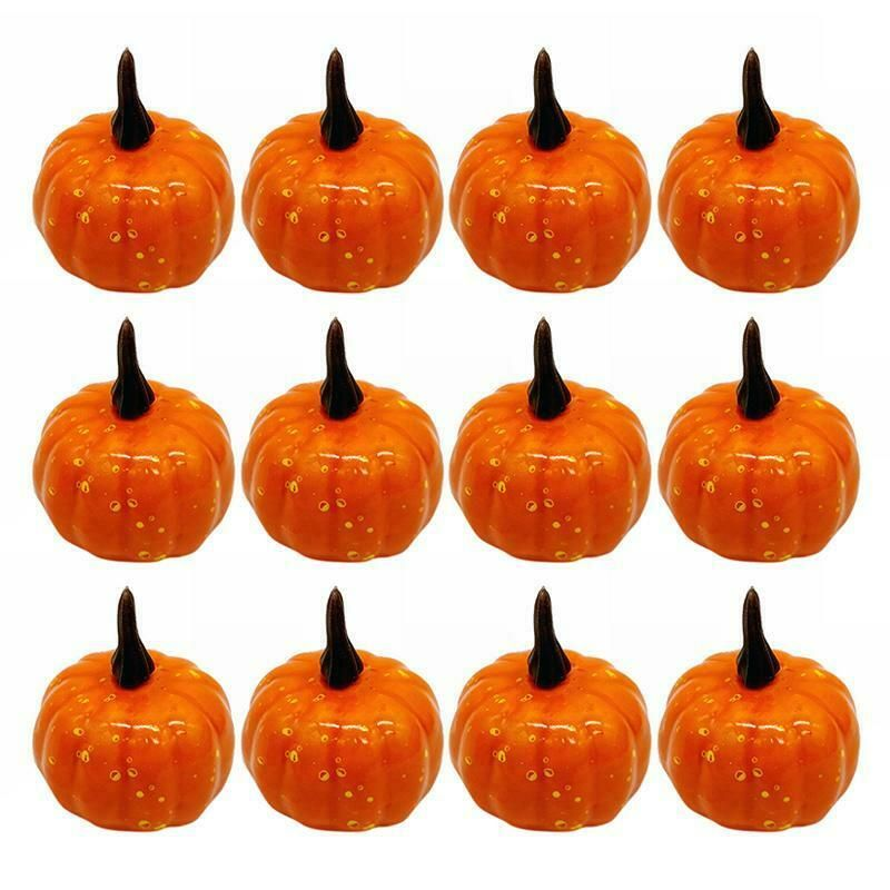 1 12 Artificial Pumpkin Foam Festival Halloween Party Garden Decor Ornament Ad Mini Pumpkins Decor Halloween Party Decor Fall Thanksgiving Decor
