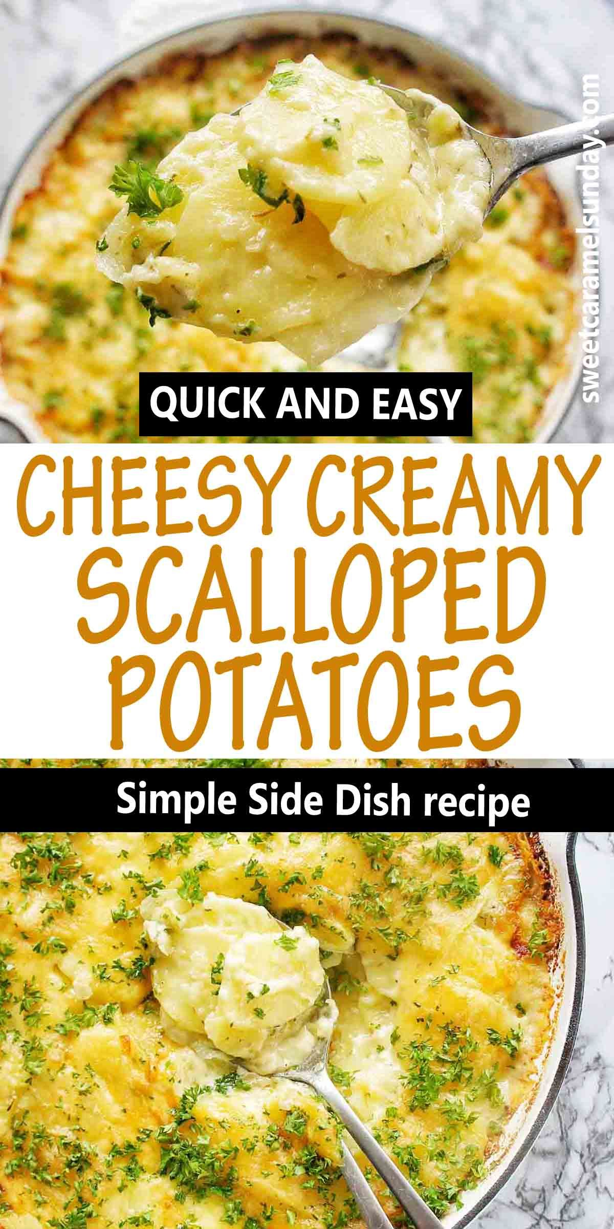 Easy Classic Scalloped Potatoes Recipe In 2020 Side Dish Recipes Easy Easy Healthy Lunch Recipes Healthy Recipes Easy Snacks