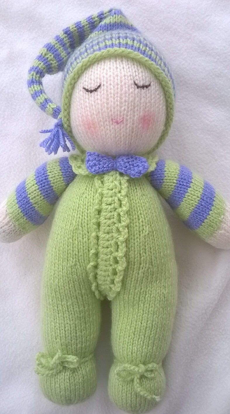 Hand Knitted Baby Dumpling Doll | Knitted baby, Dolls and Etsy