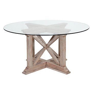Z Gallerie - Rencourt Round Dining Table - White Wash Deirdre