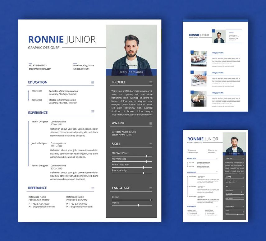 Professional Cv And Resume Template Ai Psd In 2020 Resume Template Professional Cv Resume