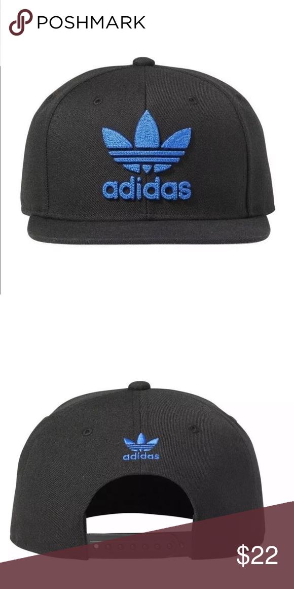 a8765a27a89 Mens Adidas Originals Trefoil Chain Snapback  CH7297  Mens Adidas Originals  Trefoil Chain Snapback Hat - Black Blue adidas Accessories Hats