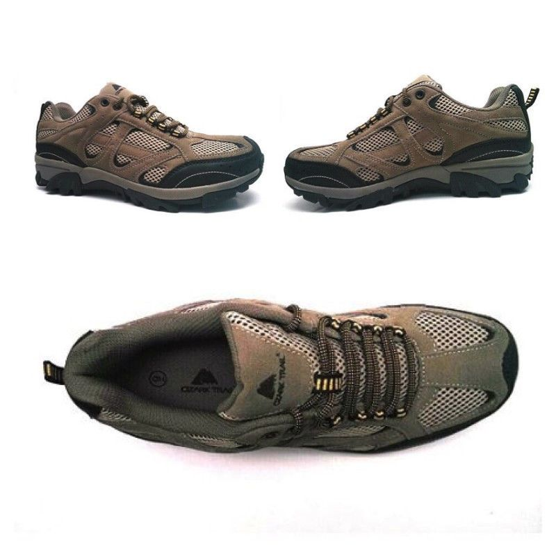 eeac9af452bd Ozark Trail Men s Low Profile Ankle Hiking Boot Shoe Outdoor Taupe Size  7-13  OzarkTrail  HikingTrail