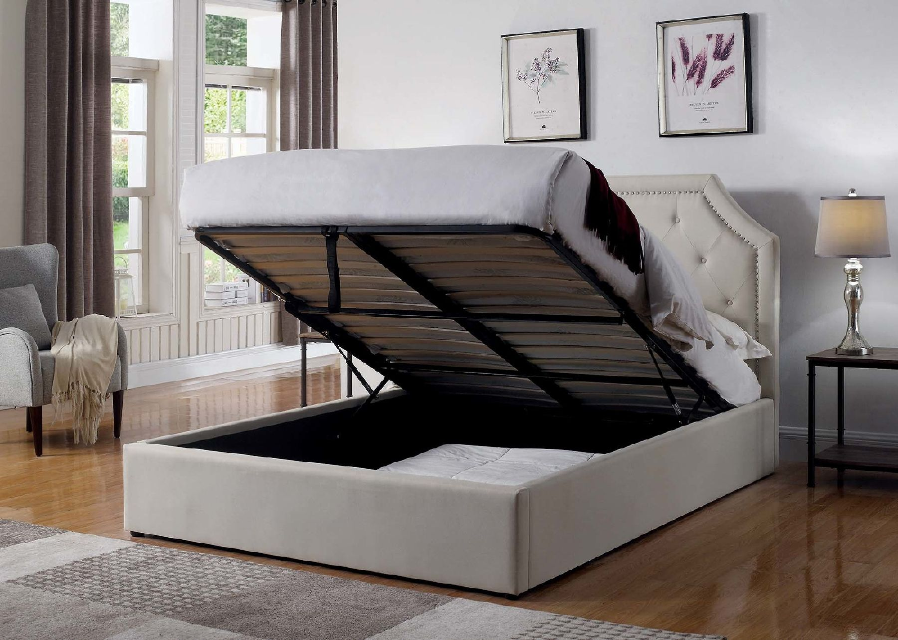 Hermosa Queen Size Bed 301469q Coaster Furniture Modern Beds In 2020 Queen Upholstered Bed King Upholstered Bed