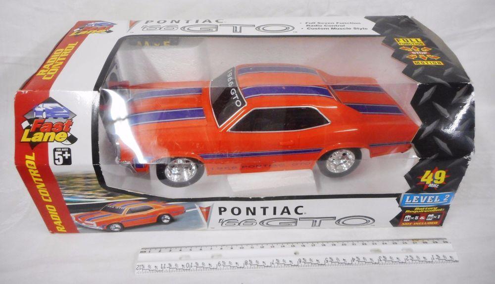 Fast Lane 1966 Pontiac GTO Radio Control Muscle Car Orange Never ...