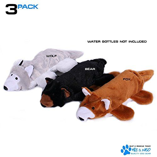 Max And Neo Fox Bear And Wolf Water Bottle Dog Toys 3 Https