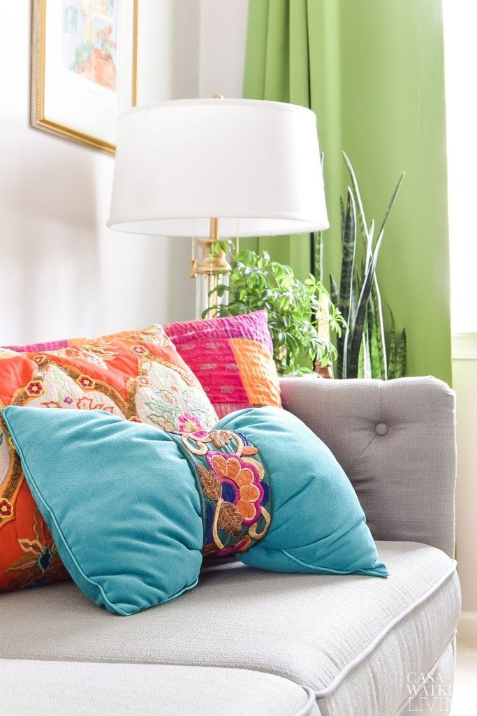 Photo of DIY Global Style Pillow in 1 Minute – Casa Watkins Living