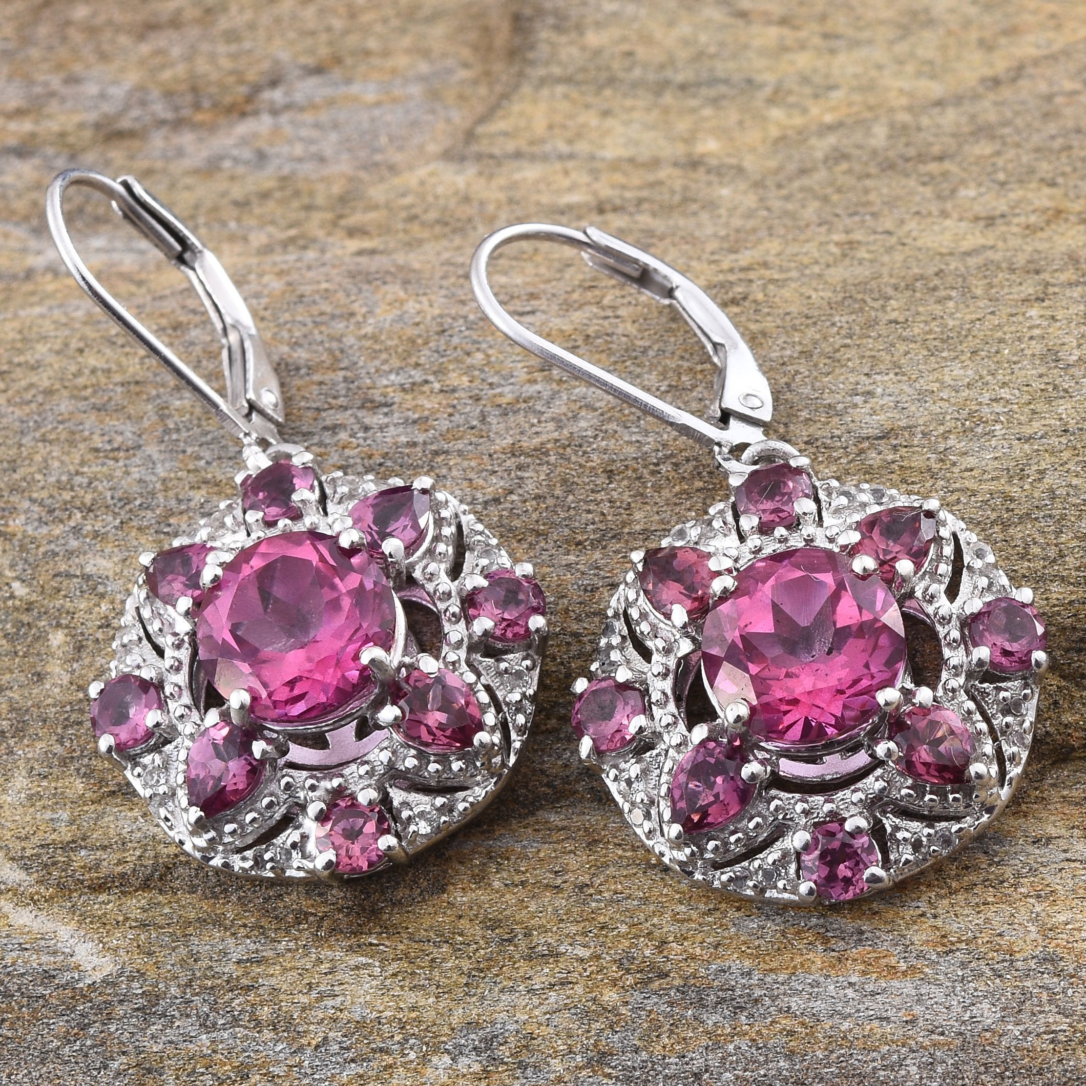 tessellate silver garnet img luxe earrings rhodolite tanzanite collections co