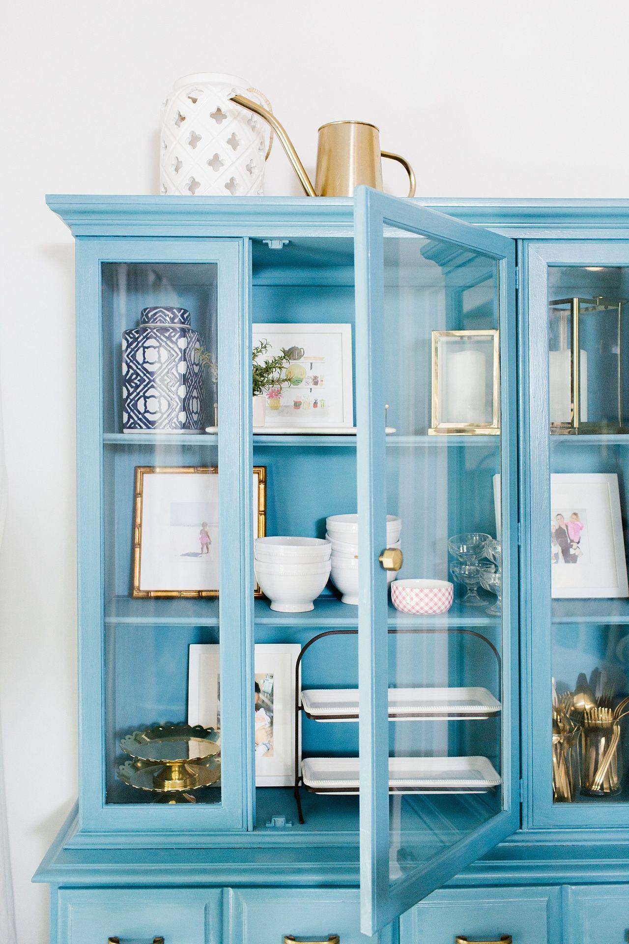 A Bright White Kitchen with Mema\'s Blue Hutch | Lantern light ...