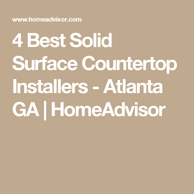 Genial 4 Best Solid Surface Countertop Installers   Atlanta GA | HomeAdvisor