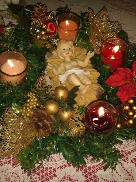Corona de adviento | Decoracion navidad, Coronas de ...