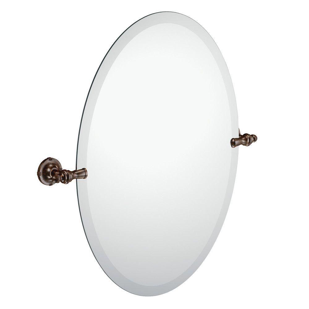 Moen Gilcrest 26 In X 23 In Frameless Pivoting Wall Mirror In Oil Rubbed Bronze Dn0892orb Oil Rubbed Bronze