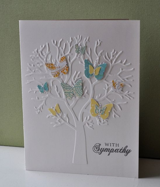 Uses A Craft Concepts Embossing Folder Company In Nz And Martha Stewart Butterfly Punch Card By Anthea Mcconachy Sympathy Cards Embossed Cards Stamped Cards