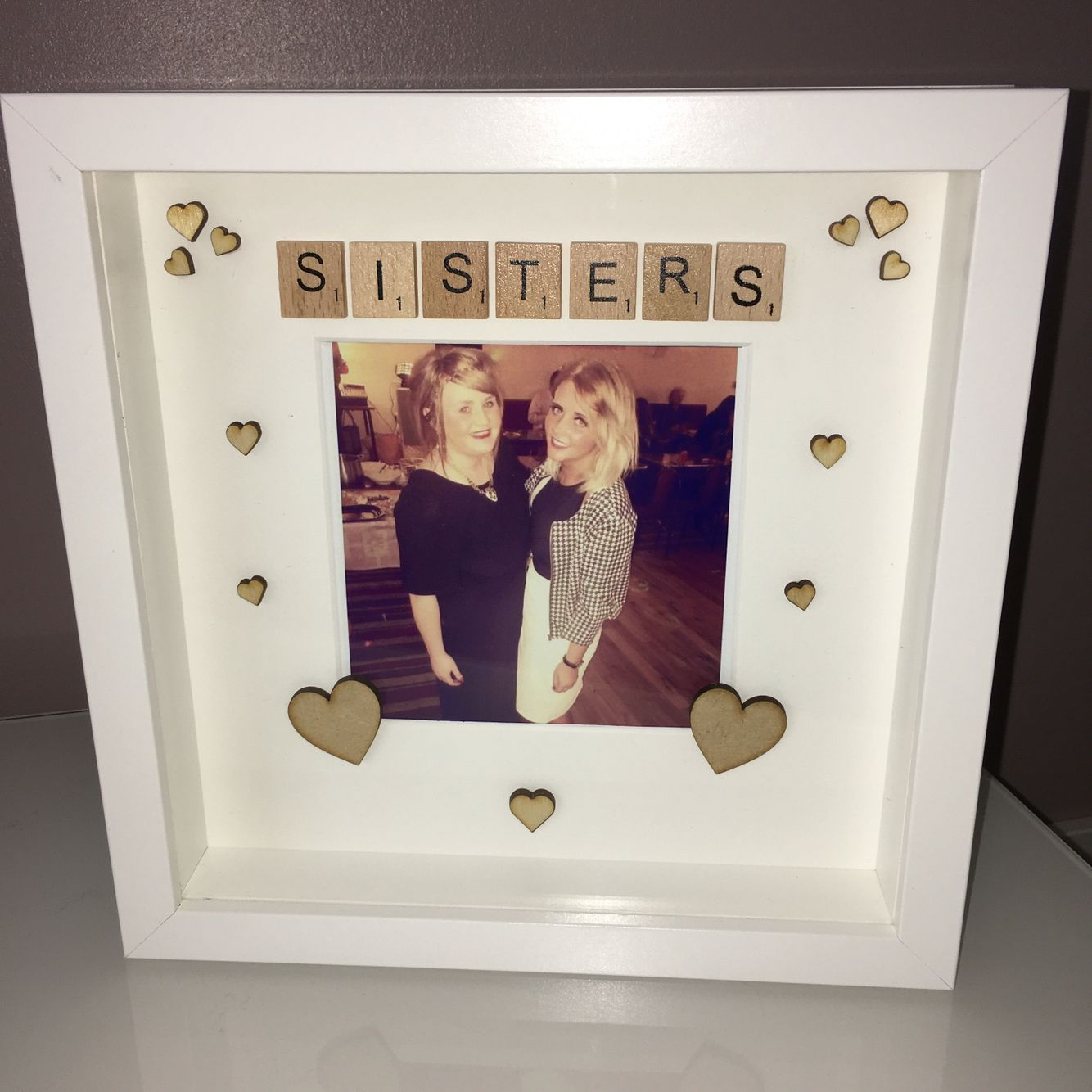 Sister Frame Arts And Crafts Ideas Scrabble Frame Frame
