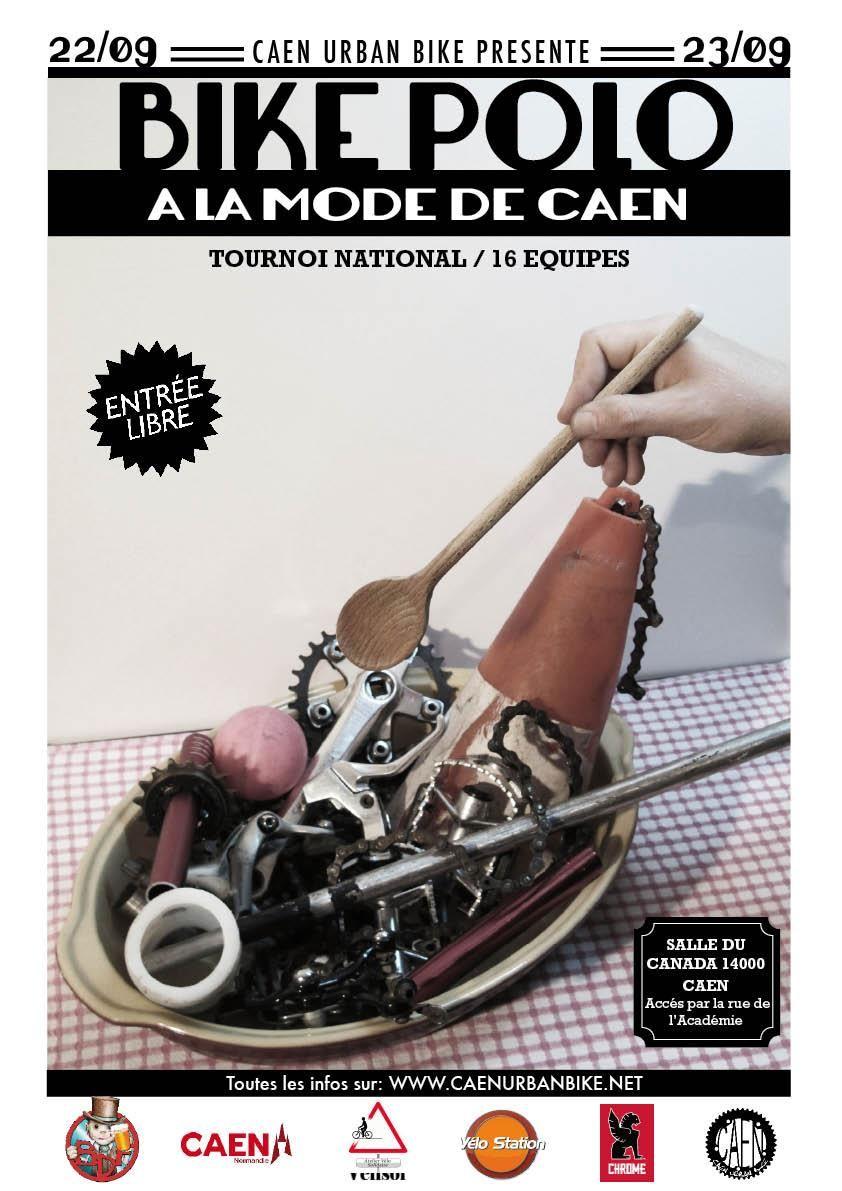 Affiche du tournoi de Bike Polo de Caen le 22 et 23 septembre 2012.