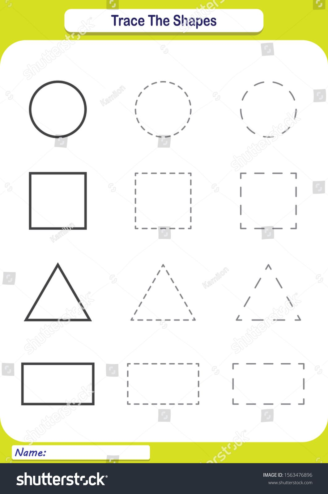 Geometric Shapes Worksheet For Kids Learn Shapes And