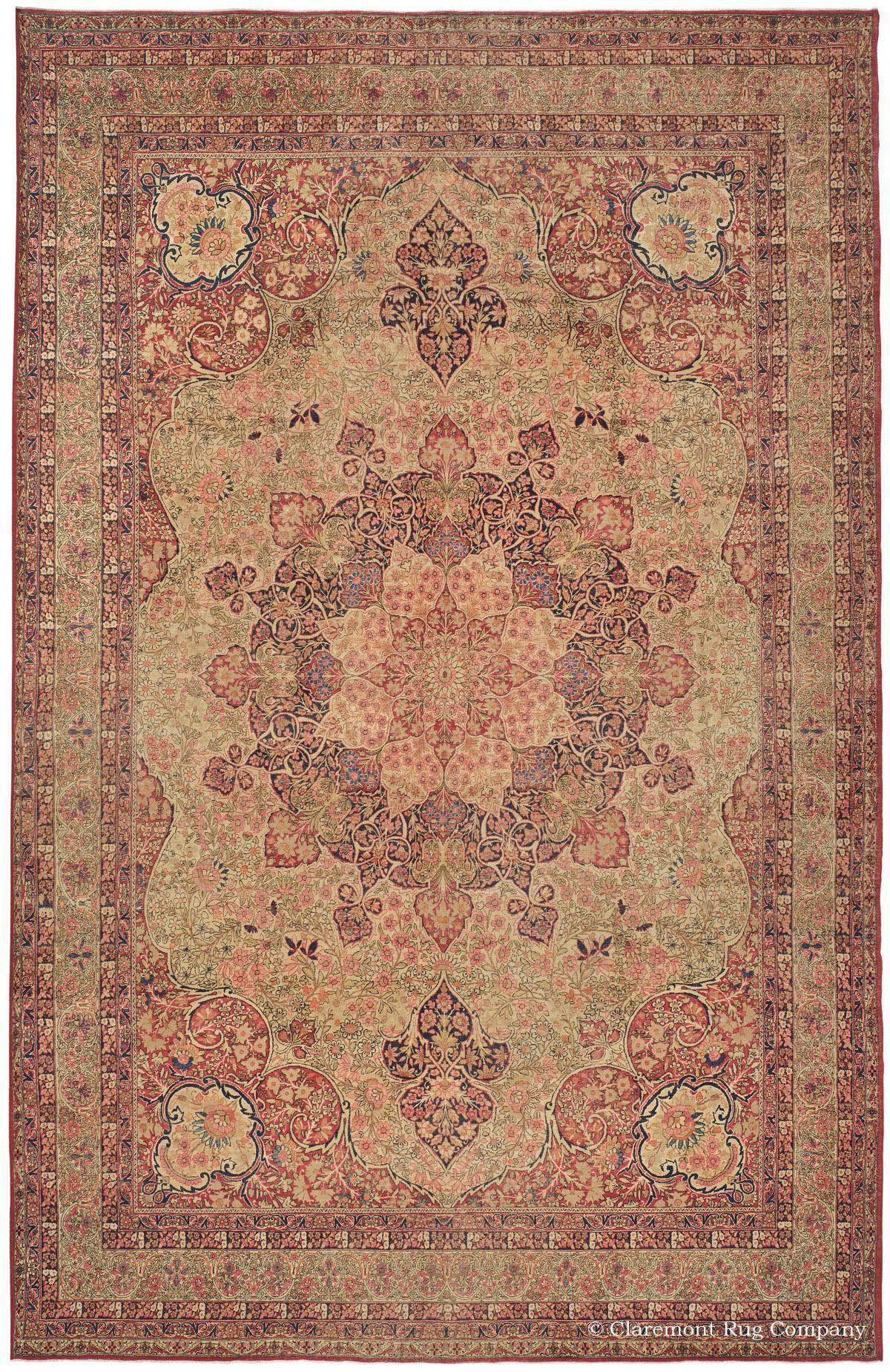 Masterful Laver Kirman Antique Persian Carpet Antique Persian Carpet Persian Carpet Rugs On Carpet