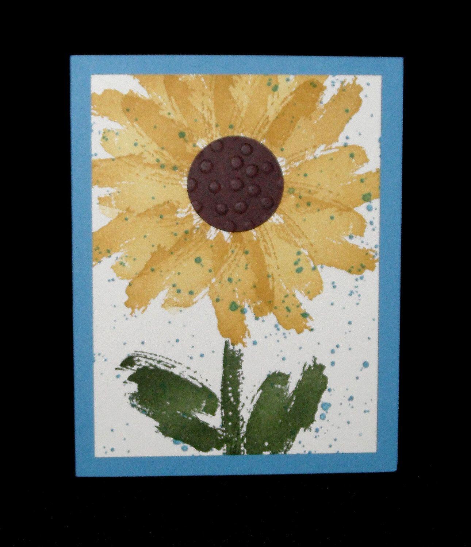 Hand stamped greeting card sunflower work of art blank hand made hand stamped greeting card sunflower work of art blank hand made stampin up 18 by m4hsunfo