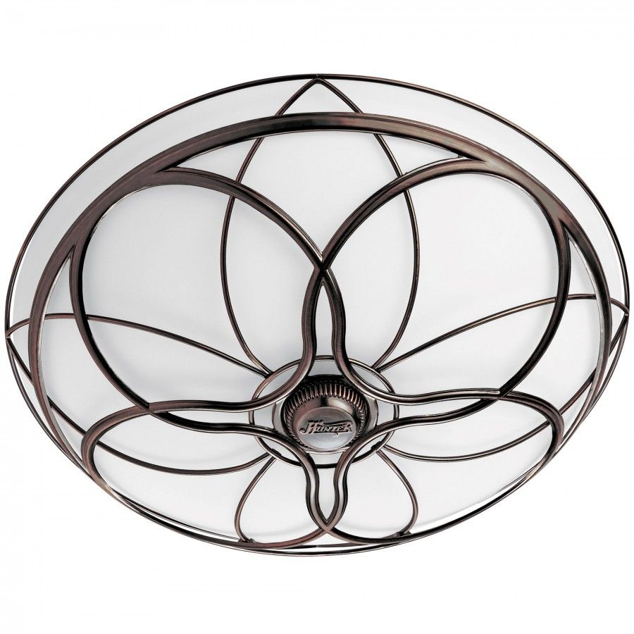 bathroom exhaust fan and light. Hunter Fans Orleans Bathroom Exhaust Fan In Light Imperial Bronze - 82004 And Z