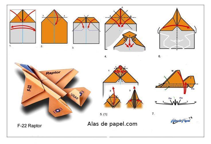 40 aviones de papel #origamianleitungen