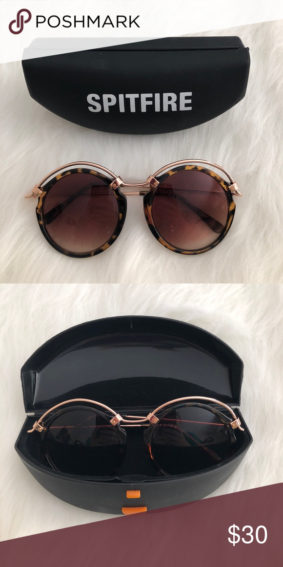 d82ee01e74 NWOT  spitfire  tortoise shell round sunglasses Brand new never worn! Comes  with case