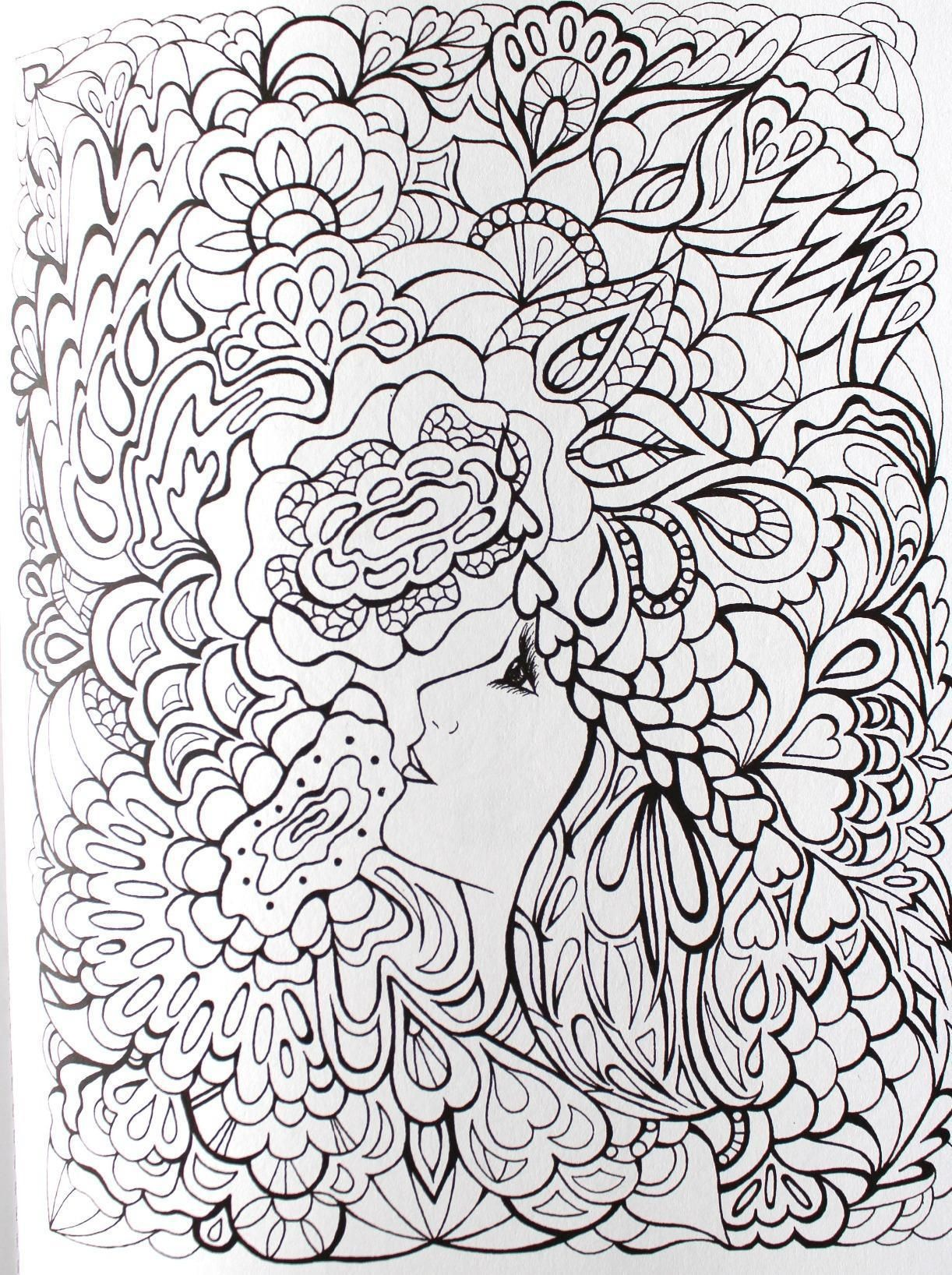 Creative Haven Fanciful Faces Coloring Book Creative