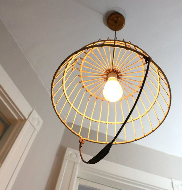 How To Turn An Antique Basket Into A Unique Pendant Light Ehow Unique Pendant Lights Pendant Light Light