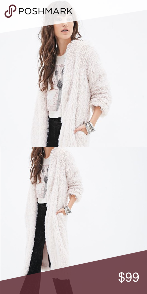c2668fed ✨🆕Urban Outfitters Long Faux Fur Duster/Coat ✨🆕 Urban Outfitters Ecote  Long