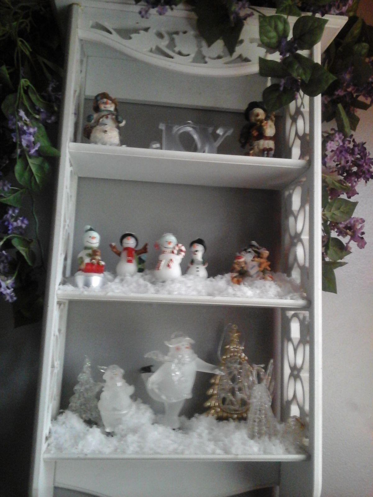 Snowman in the bathroon