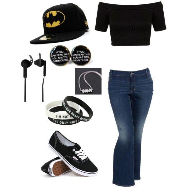 Batman babe by Ammie Watt on Polyvore