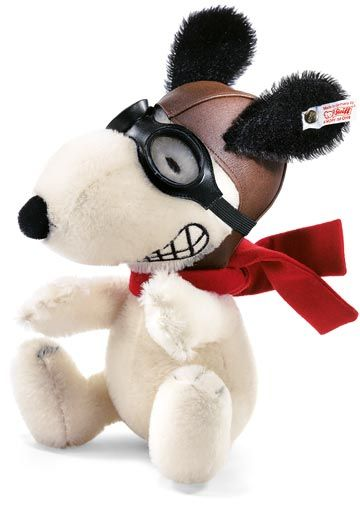 Snoopy Flying Ace Ean 682070 By Steiff At The Toy Shoppe Flying