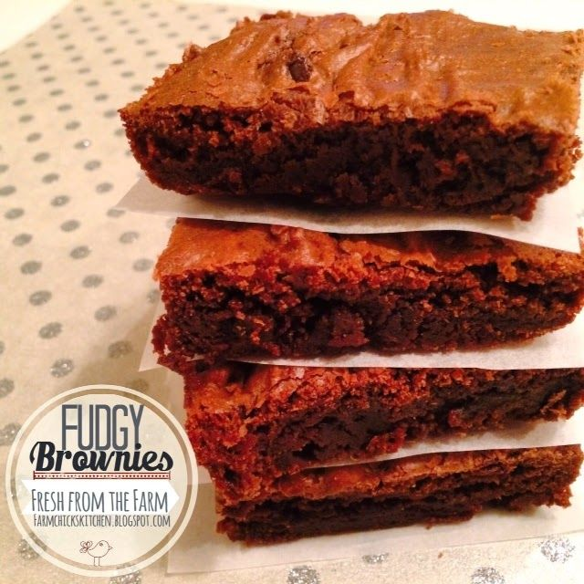 Fudgy, chewy and scrumptious from scratch brownies. My family loves these. Enjoy! Tania from Fresh from the Farm