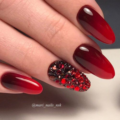 The Hottest Red Nail Designs picture 5 - 30 Chic Red Nail Designs To Say