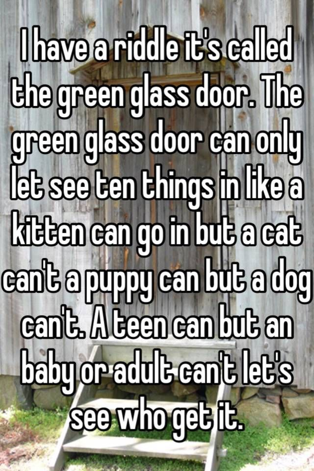 The Name Is In The Game And The Game Is Green Glass Door Green Glass Door Glass Door Green Glass