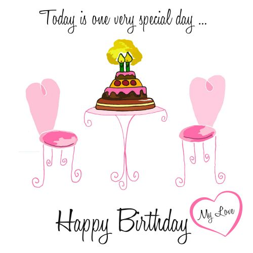 Whatsapp A Sweet Birthday Wish To Your Girl Hint Romantic Celebration With This Happybirthday Ecard