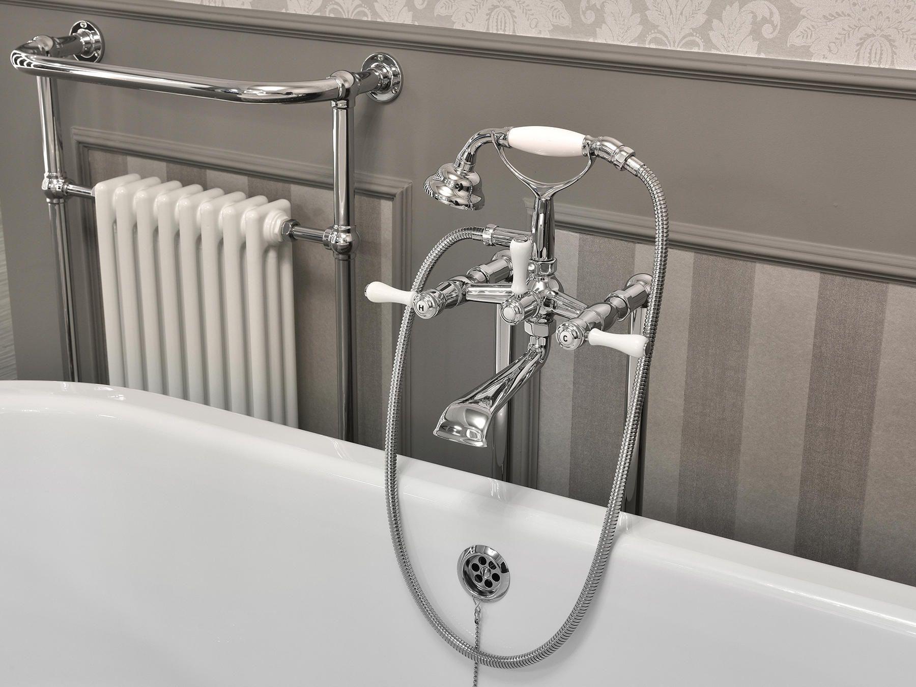 1935 Limoges Bath Shower Mixer Long Spout High Fork Designer Taps