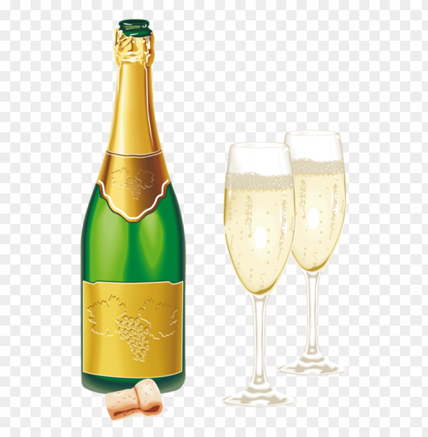 New Year Open Champagne With Glasses Png Picture Png Image With Transparent Background Png Free Png Images Champagne Newyear Pictures