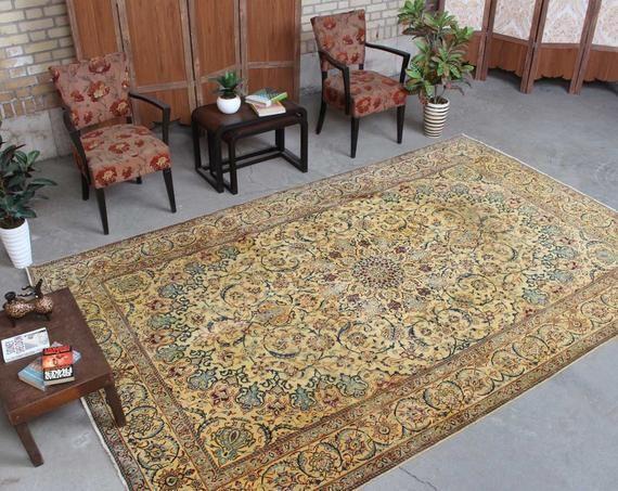 Persian Oriental Rug Living Room Rug Vintage Traditional Rug