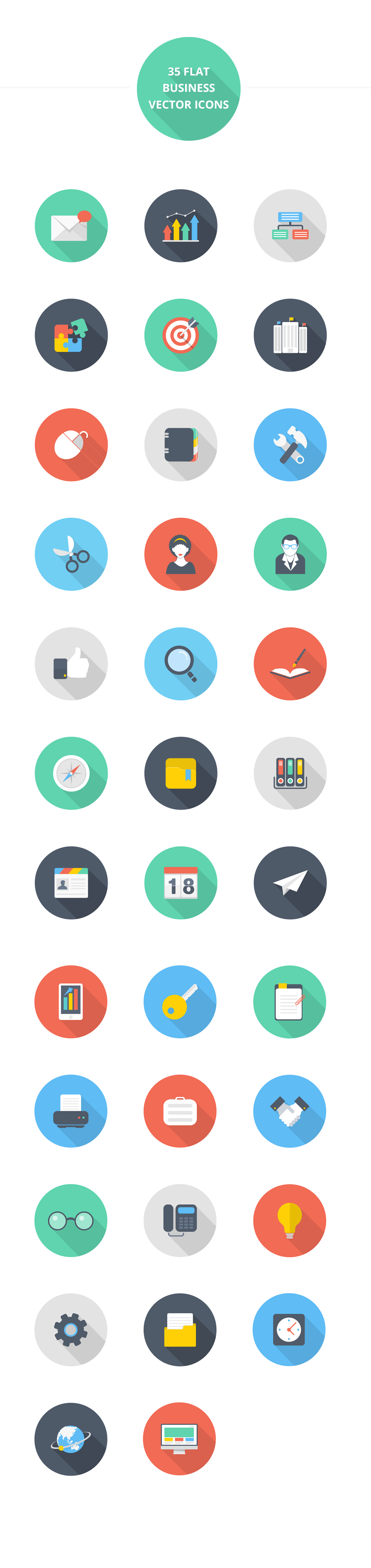 Beautiful Flat style icon set Flat design icons, Icon