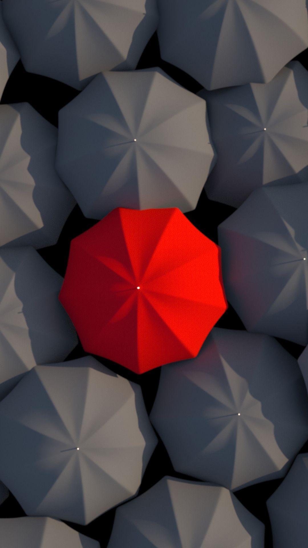 Umbrellas 3d Red Gray Iphone 6 Plus Wallpaper Grey Wallpaper Iphone 3d Wallpaper Iphone Samsung Wallpaper