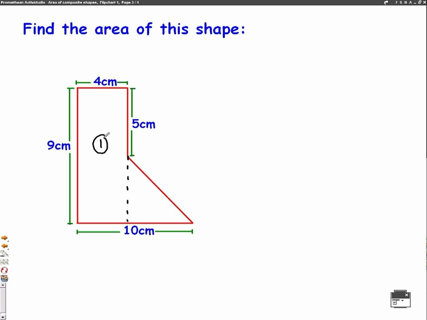 worksheet Composite Shapes Worksheet area of composite shapes mathscast measurement pinterest mathscast