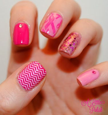 A Little Polish: Breast Cancer Awareness #nail #nails #nailart