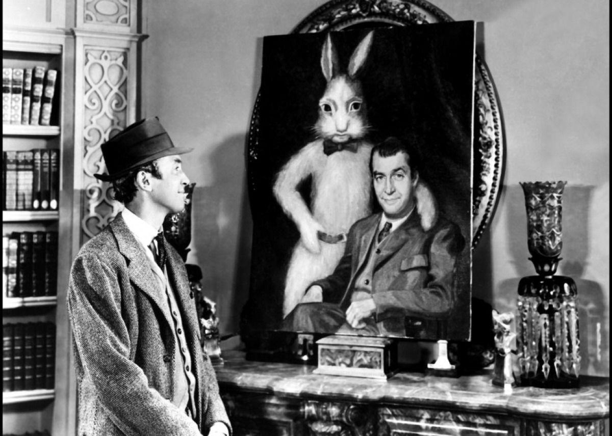 Jimmy Stewart's a drunk & HARVEY's a 6 ft. 3 in. rabbit ...