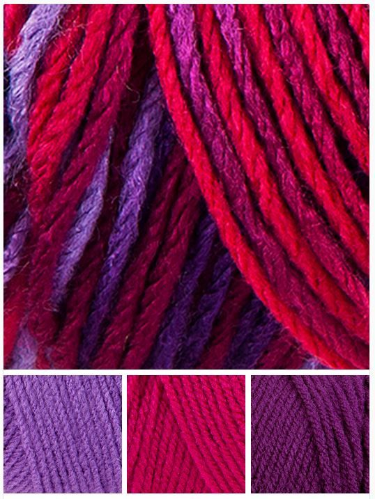 Red Heart With Love 1942 Plum Jam Coordinates 1538 Lilac 1701 Hot Pink And 1542 Aubergine
