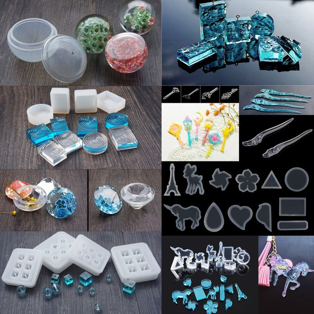 DIY Clear Silicone Mold Making Jewelry Pendant Resin Casting Mould Craft Tool 1X