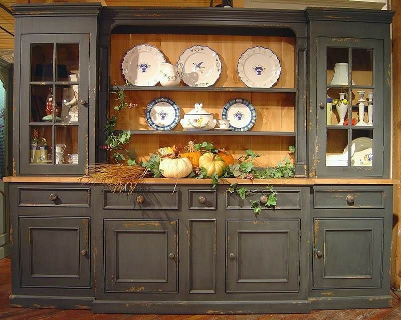 British Traditions Large 6-Section Sideboard & Hutch w 5 Drawers & 3  Cabinets &